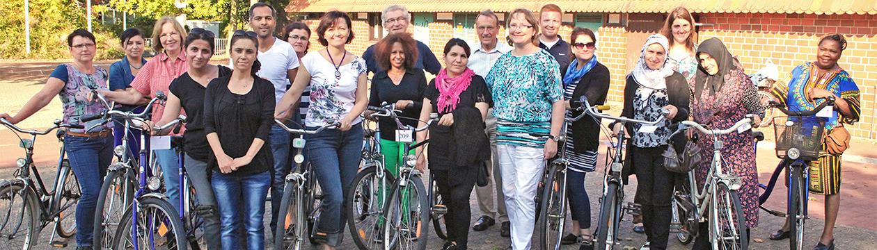 """""""Fahrradfahren für alle Kulturen"""" – ein Landkreis-Projekt  (Foto: Christian Schmidt)"""